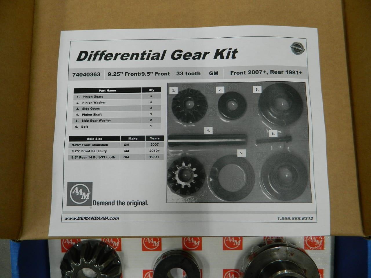 Chevy Dodge 9.25 Axle 33 Splines Spider Gear Kit  2003-2006 74040363