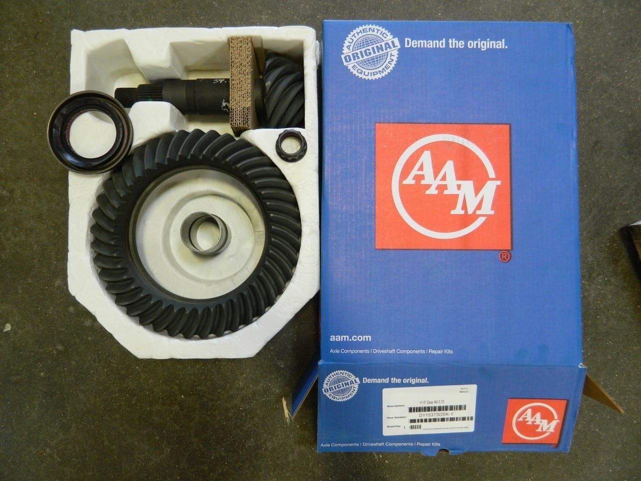 2014+ Dodge Ram 2500 11.5-3:73 Ring Gear Pinion Gear Set AAM