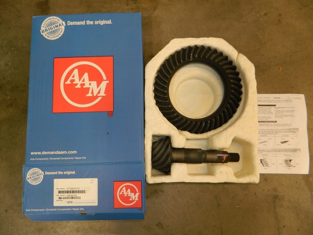 AAM 11.5 4:10 Ring Gear & Pinion Set GM 1999+ Dodge 2003+ Rear