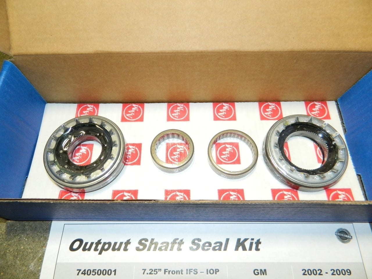GM 7 25 IFS FRONT DIFFERENTIAL OUTPUT SEAL KIT TRAILBLAZER OIL PAN MOUNTED  AAM