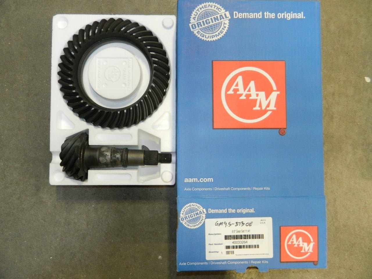 GM 9.5 14 Bolt 3.73 AAM OEM Ring & Pinion Gear Set 373 Chevy GMC 9 1/2