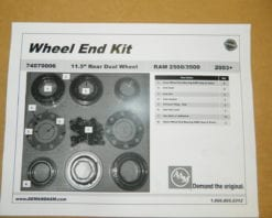 2003+ Dodge Ram 3500 Dual Dually Rear Wheel Hub Bearing & Seal Kit 11.5