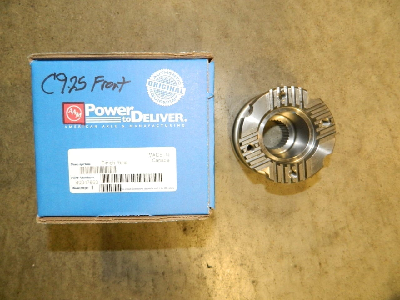 AAM Dodge 9.25 Front Differential Pinion Yoke Flange 4X4 Axle Serrated 2003+ 3/4 & 1 Ton