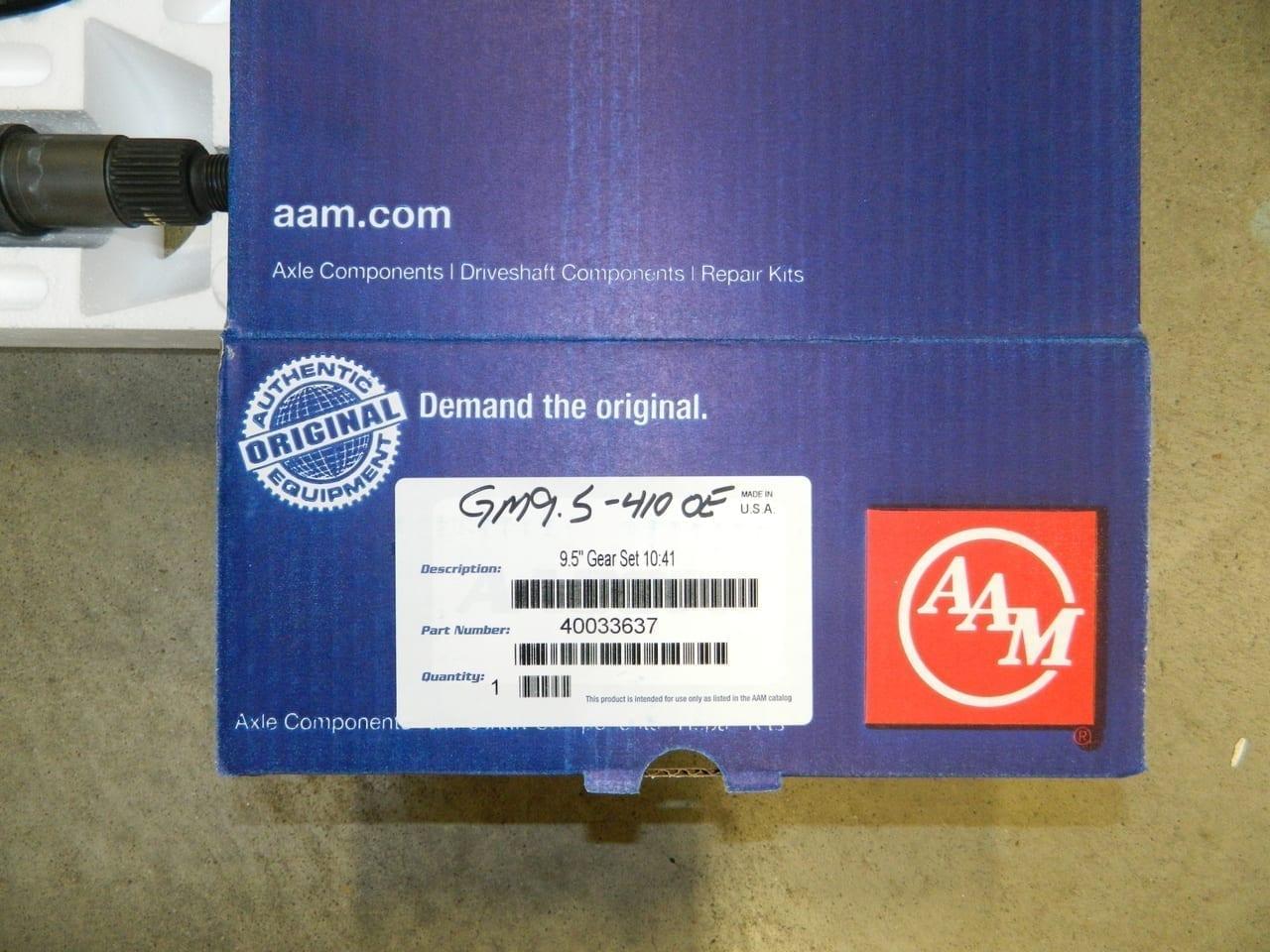 GM 9.5 14 Bolt 4:10 AAM OEM Ring & Pinion Gear Set 410 Chevy GMC 9 1/2