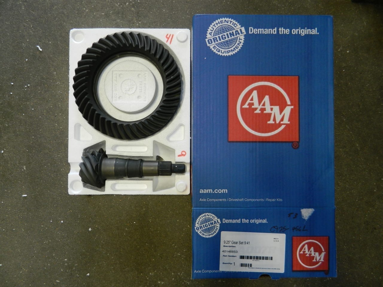 2014+ Dodge Ram 2500 3500 9.25-4:56 Ring Gear Pinion Gear Set AAM 4X4 Front
