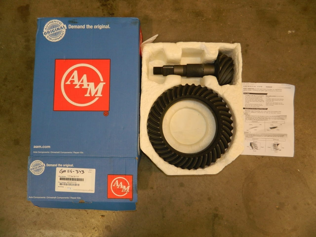 AAM 11.5 3:73 Ring & Pinion Gear Set 1999+ GM and 2003+ Dodge Ram Rear End