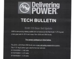 AAM 11.5 4:10 Ring Gear & Pinion Set GM 1999+ Dodge 2003+ Rear