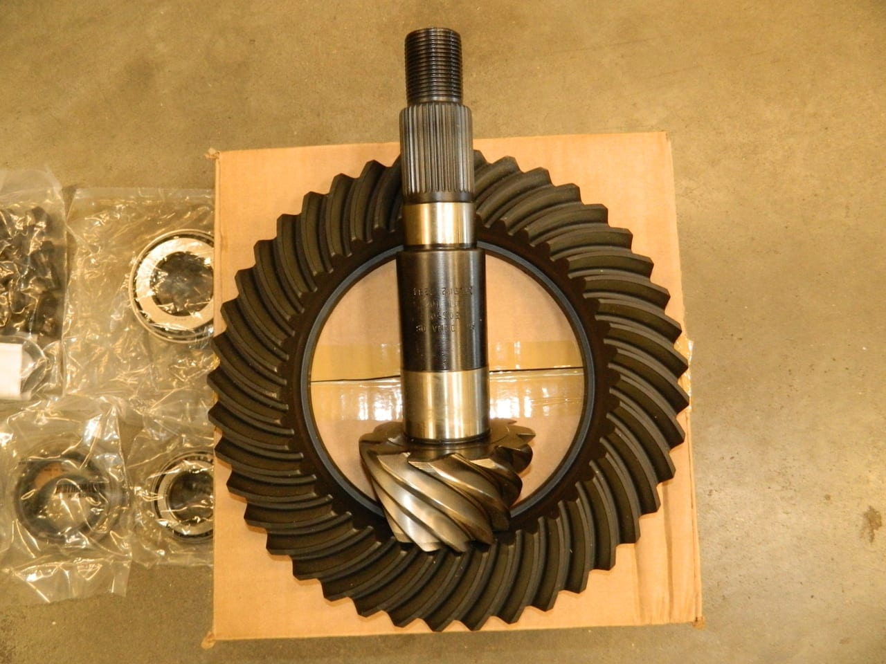 Dana 80 Dodge Chevy 4:10 Ring Gear & Pinion Kit w/Shims Pinion Bearings