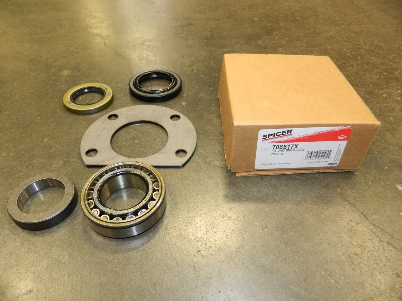 Jeep Dana 44 Rear Axle Bearing Seal Kit Press On