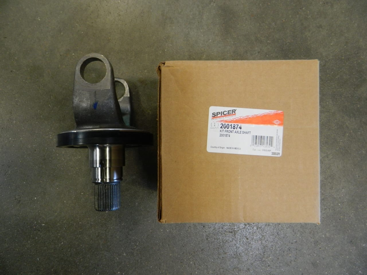 OUTER STUB AXLE SHAFT Dana 60 2005-2011 FORD Super Duty S60 4X4 FRONT F450 F550