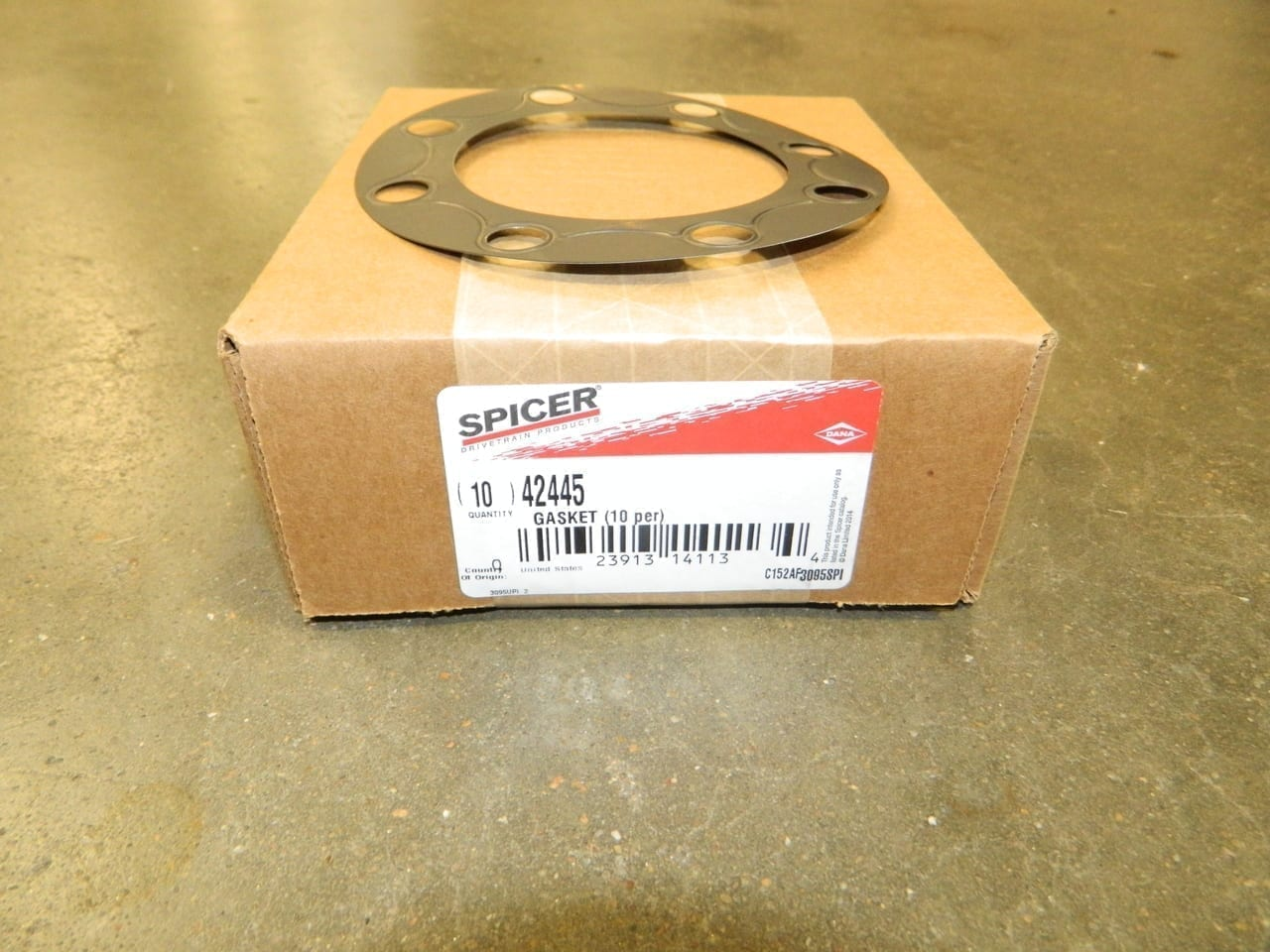 "Dana 80 Ford Axle Flange Gasket 37 Spline Large 5 1/8"" Tin Metal"