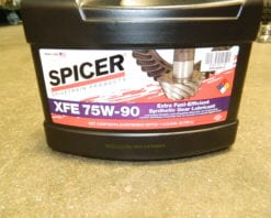 Dana Spice XFE 75W90 75W-90 Fuel Efficient Synthetic Gear Oil Differential Axle