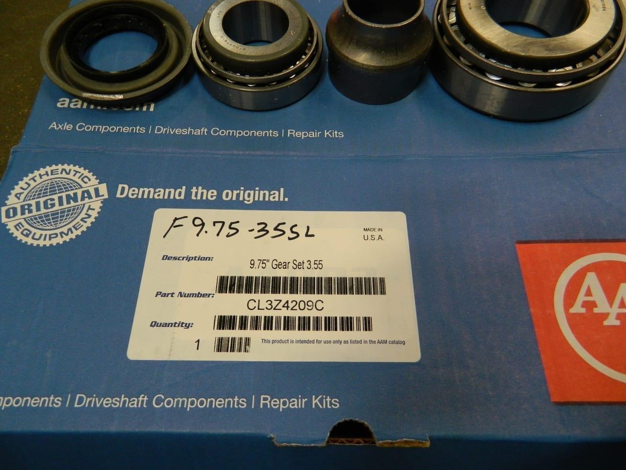 2011+ Ford 9.75 Ring Gear & Pinion Set 3:55 F150 AAM Kit OEM