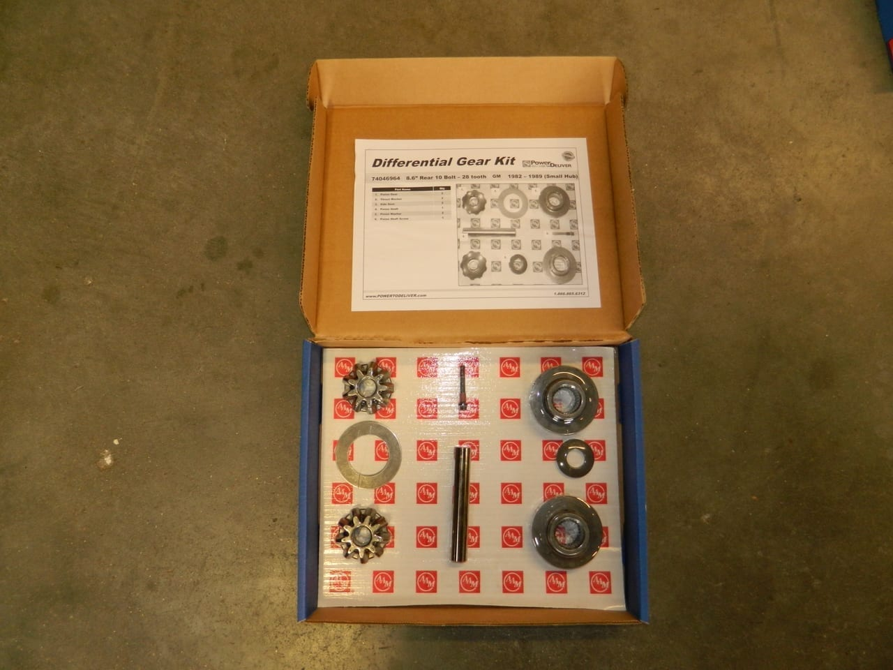 GM 8.5 10 Bolt 28 Spline Axle Gear Kit Spider Open Differential Chevy 1973-1988