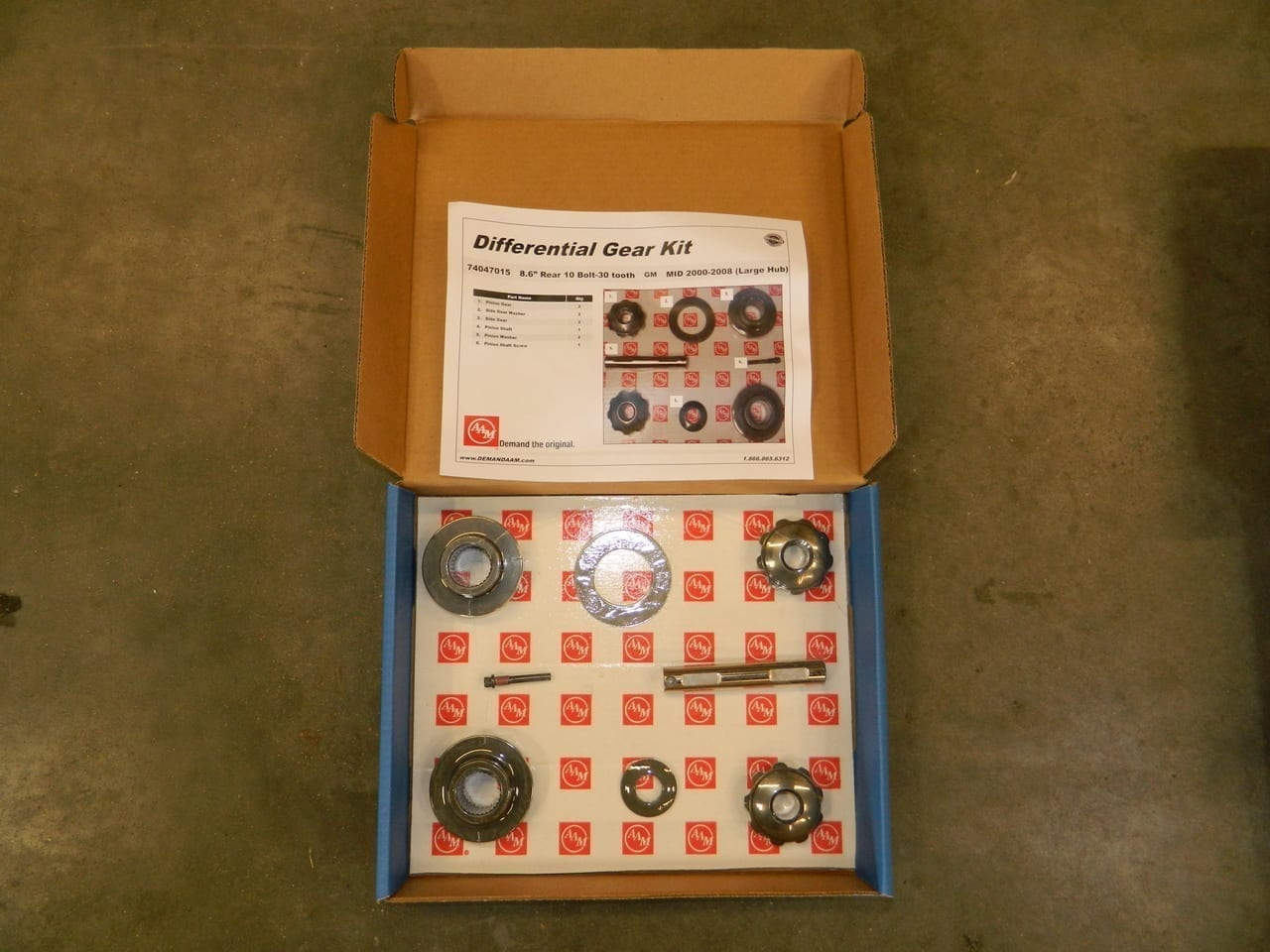 GM 8.6 Axle Gear Kit Spider Open Differential Mid2000-2006 W/Disc Brakes