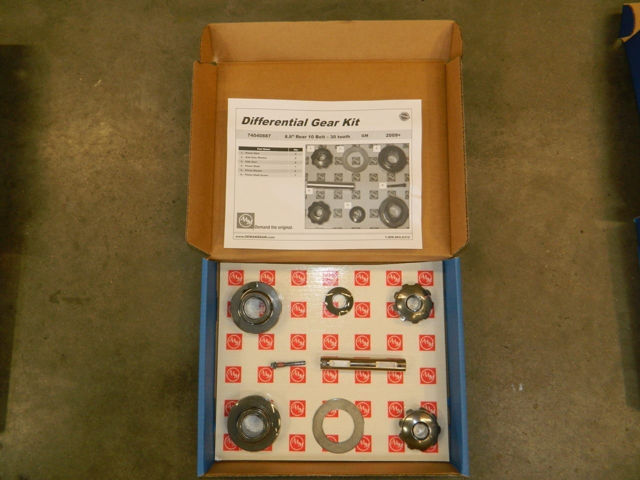 GM 8.6 Axle Gear Kit Spider Open Differential 2007+ Chevy Disc or Drum Brakes