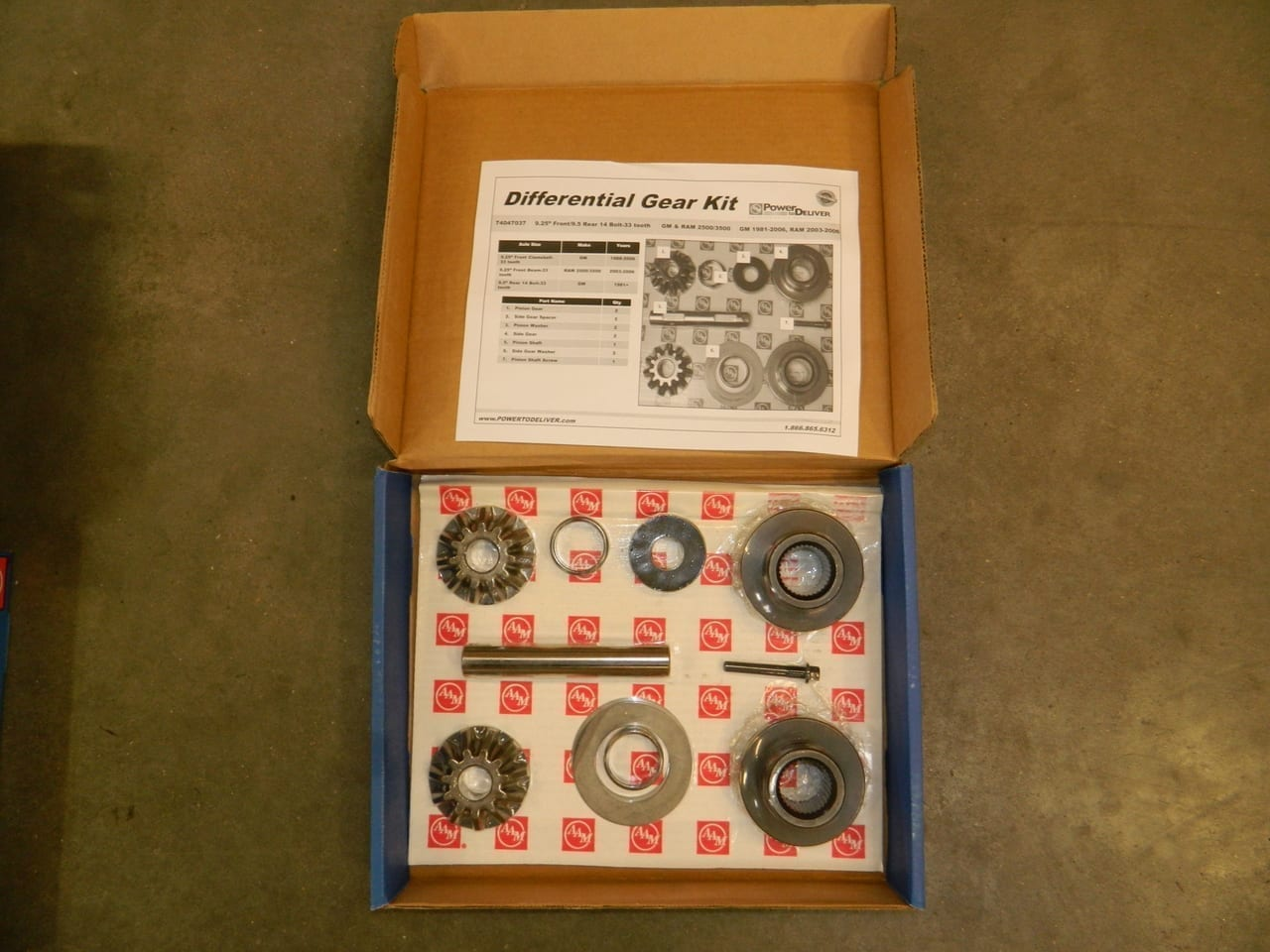 GM Chevy 9.5 Axle Spider Gear Kit 9.25 Front Also Dodge Front 2003-2006