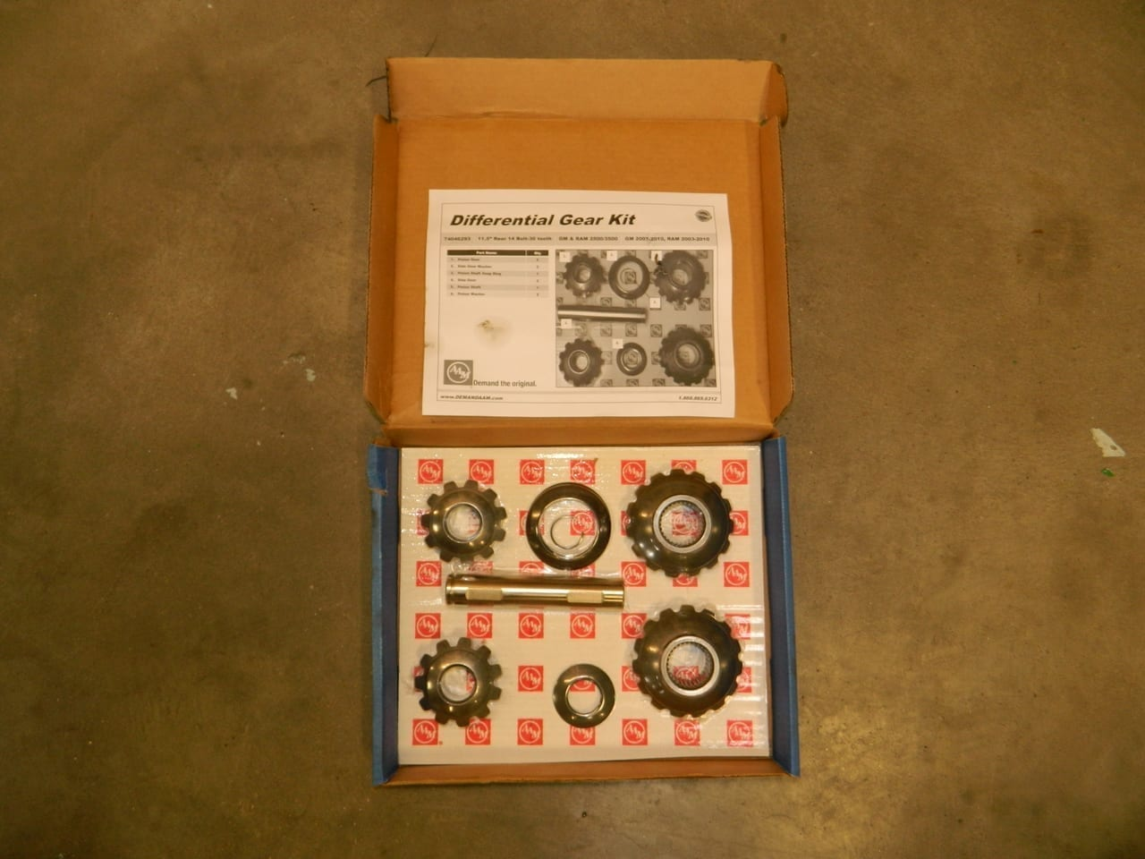 GM Dodge Chevy 11.5 Rear Open Differential Axle Spider Gear kit AAM