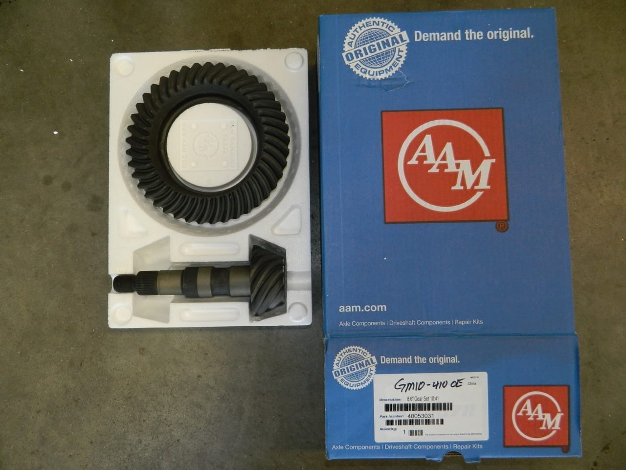 GM10-410 OEM AAM Ring & Pinion 10 Bolt Gear Set 8.5/8.6 Chevy Car and Truck