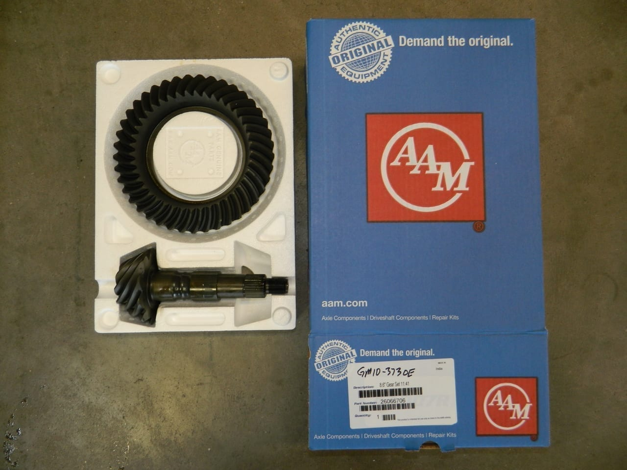 GM10-373 OEM AAM Ring & Pinion 10 Bolt Gear Set 8.5/8.6 Chevy Car and Truck