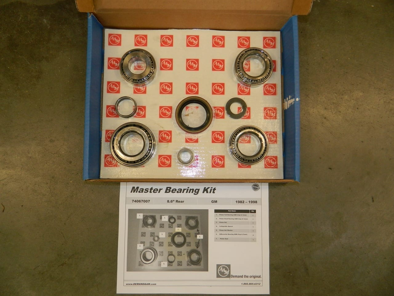 AAM Rear Differential Bearing Kit GM 8.5 1/2 Ton Chevrolet 1973-1998 10 Bolt