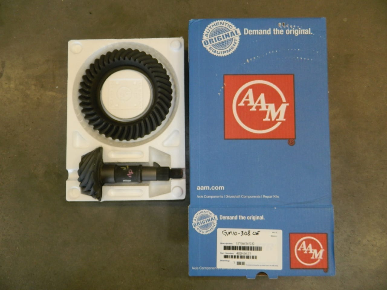 GM10-308 OEM AAM Ring & Pinion 10 Bolt Gear Set 8.5/8.6 Chevy Car and Truck