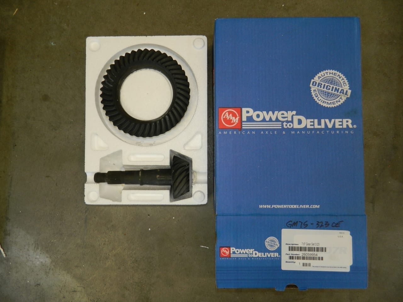GM7.5-323 OEM AAM Ring & Pinion 10 Bolt Gear Set 7.5/7.6 Chevy S10 Camaro