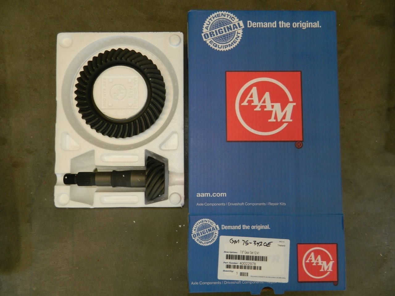 GM7.5-342 OEM AAM Ring & Pinion 10 Bolt Gear Set 7.5/7.6 Chevy S10 Camaro