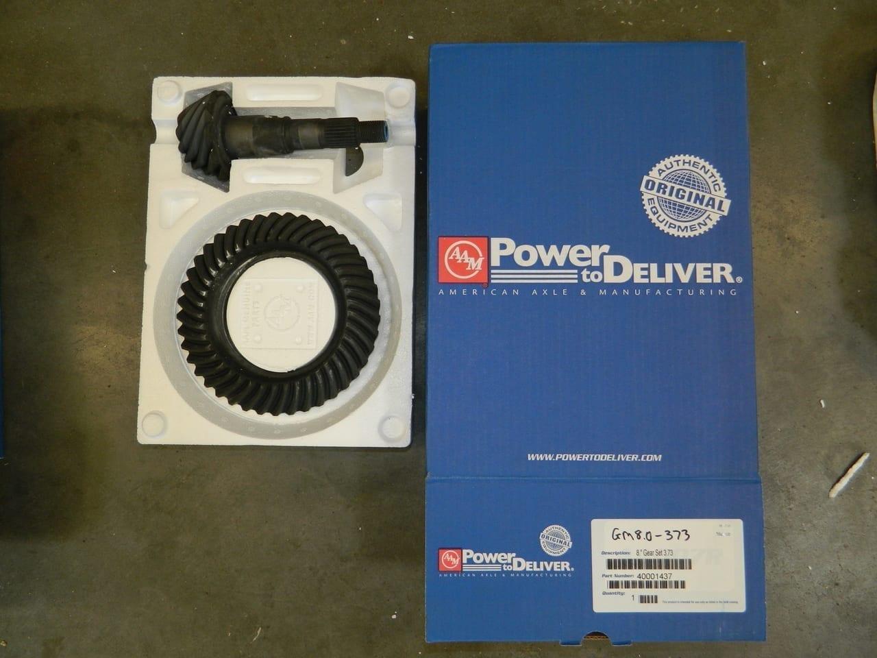 GM8.0-373 OEM Ring Gear and Pinion Set 2002+ Envoy Trailblazer Chevy GMC Rear