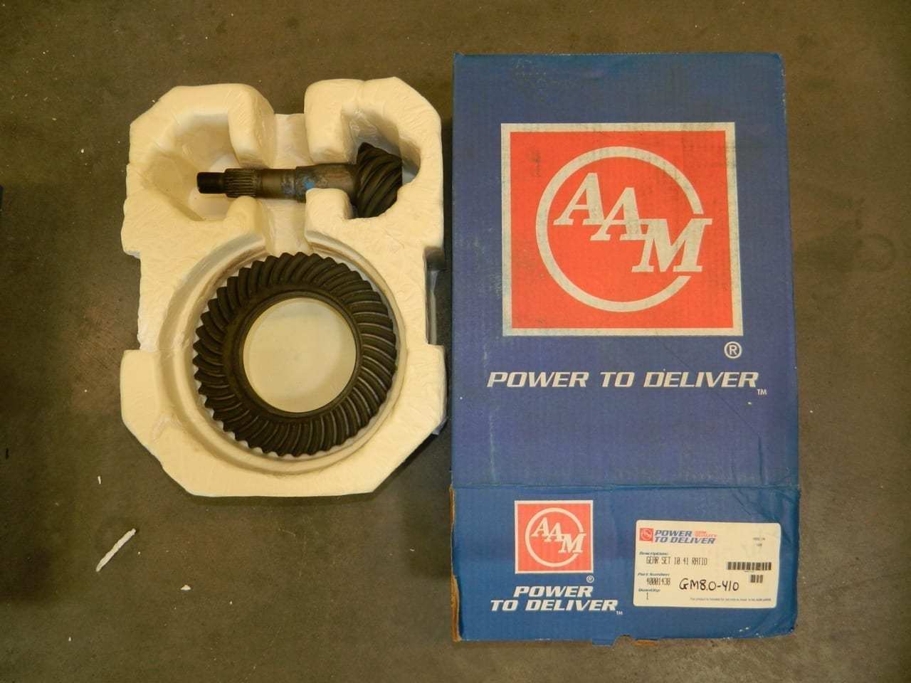 GM8.0-410 OEM Ring Gear and Pinion Set 2002+ Envoy Trailblazer Chevy GMC Rear