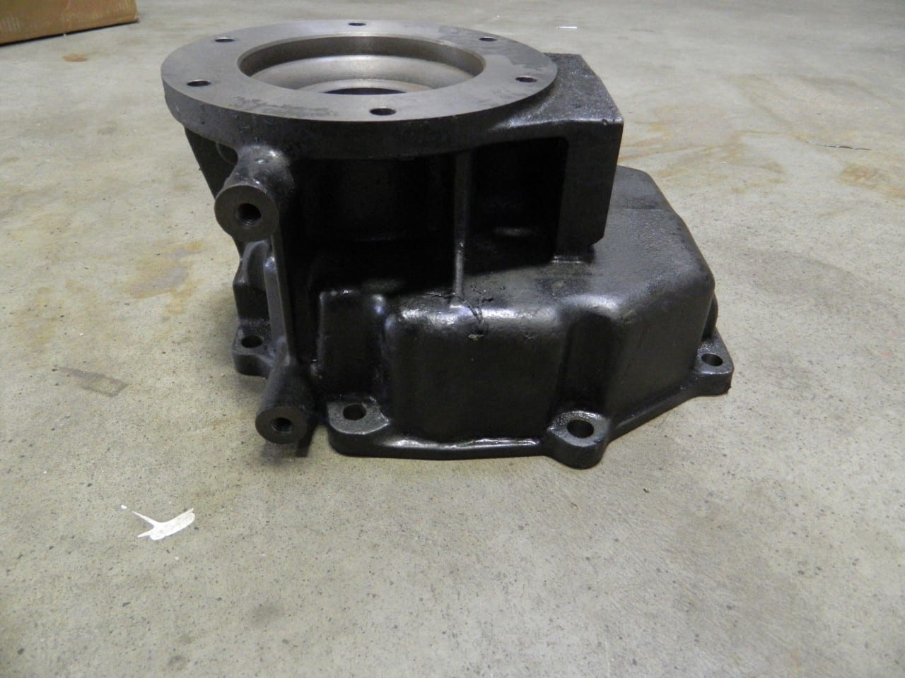 Cast Iron Tailhousing Transfer Case Adapter Dodge Diesel Nv4500 5 Speed Transmission C M Gearworks