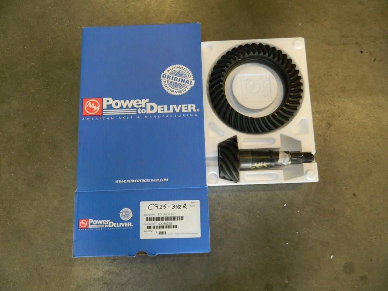 C9.25-342R Dodge AAM Front Ring & Pinion 2007+ Straight Axle 4X4