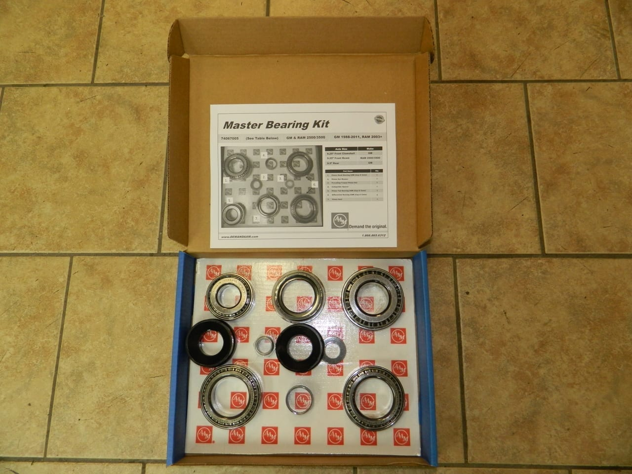 AAM Dodge 9.25 Front Differential Bearing Kit W/Seals 2003+ C9.25 Ram 2500 3500