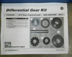 2003+ Dodge Ram 2500 10.5 Open Differential Spider Gear Kit Internal AAM