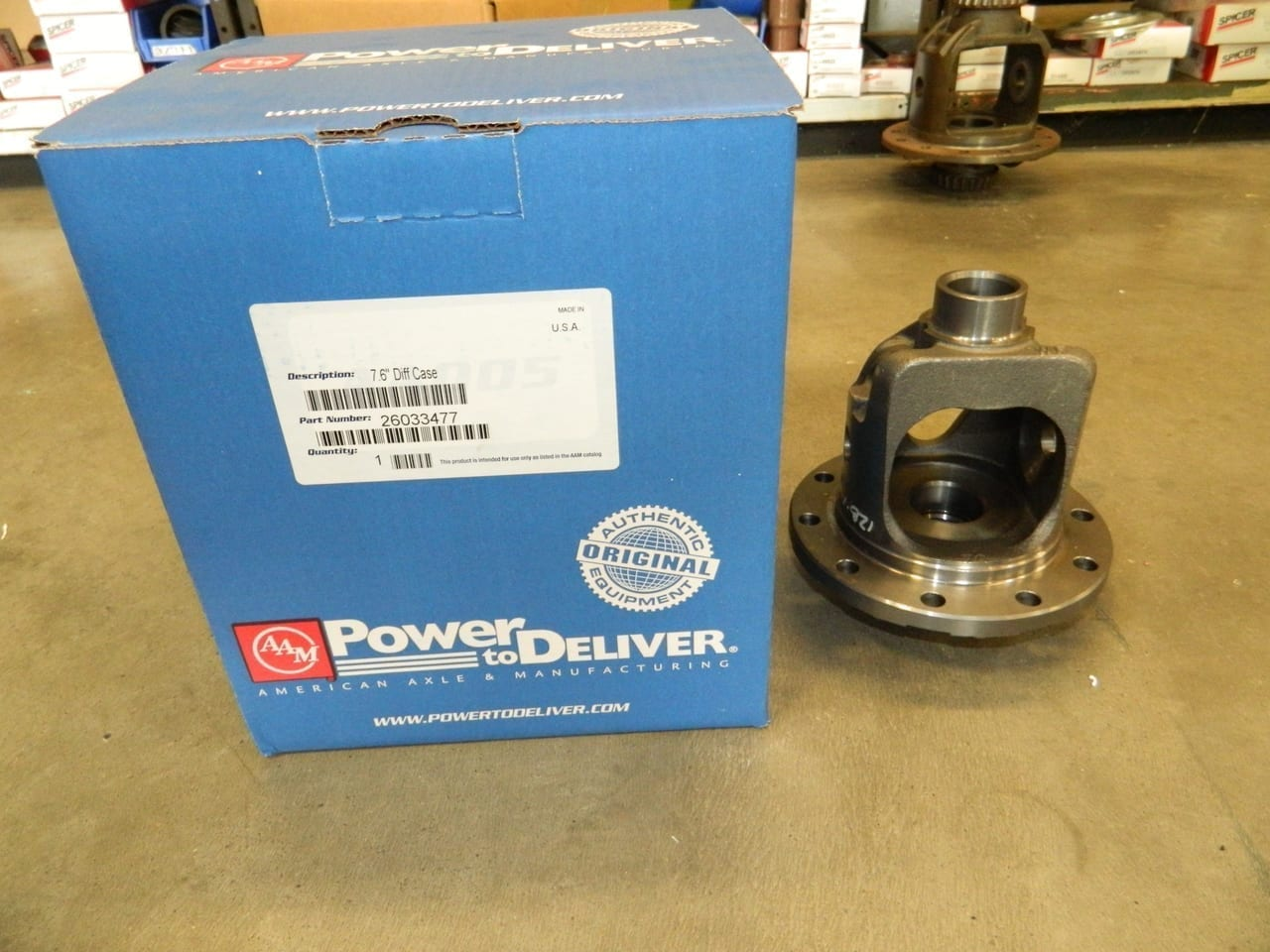 "7 5/8"" GM 7.6 28 Spline Bare Open Differential Carrier 3:23 3:42 3:73 4:10 4:56 S10 Camaro Chevrolet AAM"